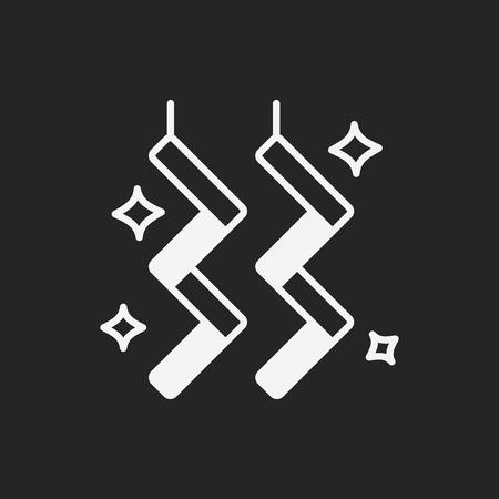 ribbon: party decorate ribbon icon Illustration