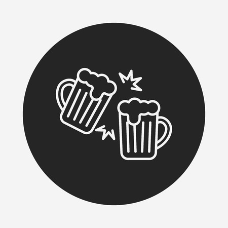 draught: beer line icon