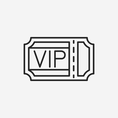 entry admission: vip ticket line icon Illustration