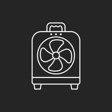 electric fan: electric fan line icon