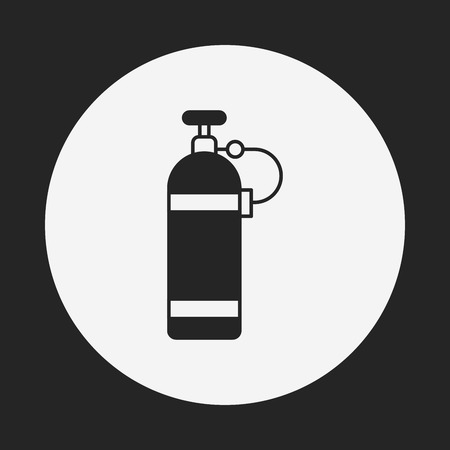 compressed gas: Oxygen bottles icon