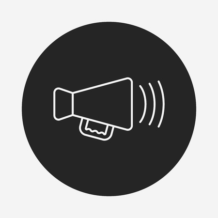 sounding: Sound equipment line icon Illustration