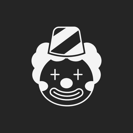 payaso: icono de payaso Vectores