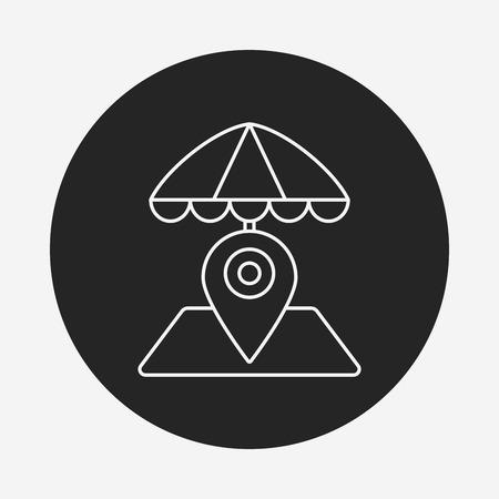fall protection: umbrella line icon