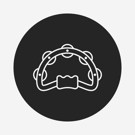 pandero: Icono de línea Pandereta