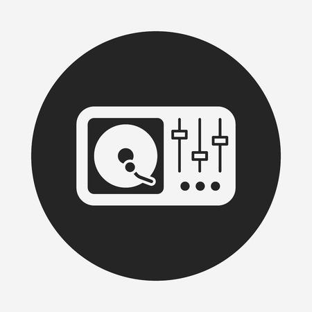 vinyl disk player: DJ disk icon