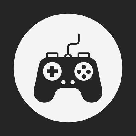 game console: game controller icon Illustration