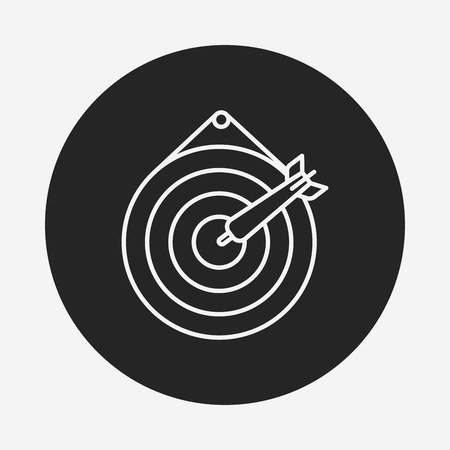 archery target: Archery target line icon