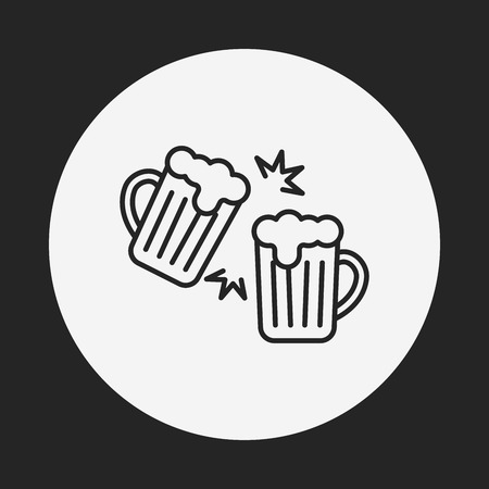 draughts: beer line icon
