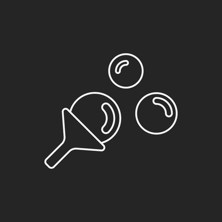 blowing: Blowing bubbles line icon