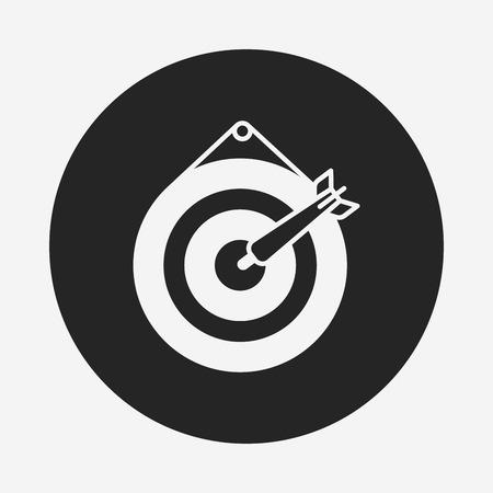 archery target: Archery target icon Illustration