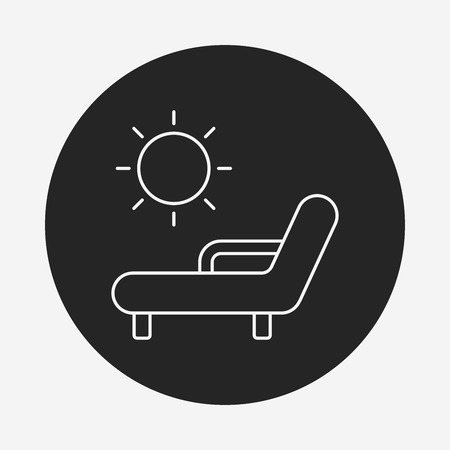 porch chair: lounge line icon