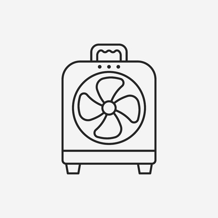 electric fan: electric fan line icon