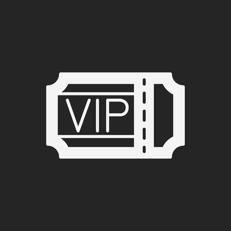 vip symbol: vip ticket icon