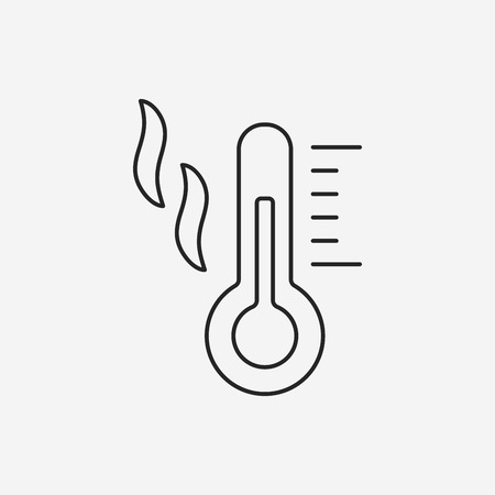 thermometer: Thermometer line icon