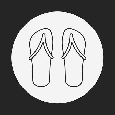 slipper: slipper line icon Illustration