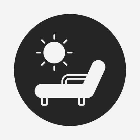 patio deck: lounge icon