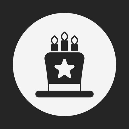 buttercream: Icona della torta Vettoriali