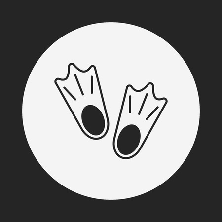 fins: diving fins icon