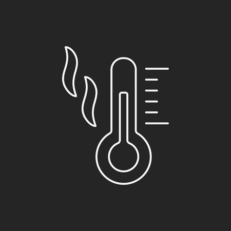Thermometer line icon