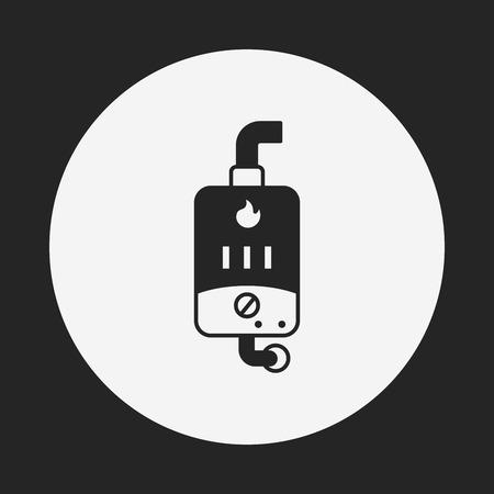 calentador: Icono del calentador de agua Vectores