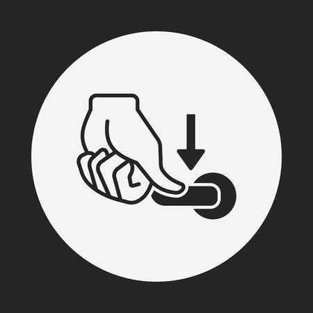 flush handle icon