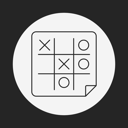 x games: Tic Tac Toe line icon Illustration