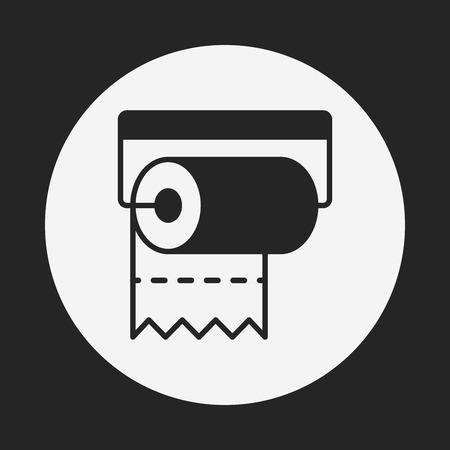 sanitary napkin: tissue icon Illustration