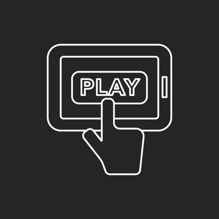 handheld: Handheld game consoles line icon