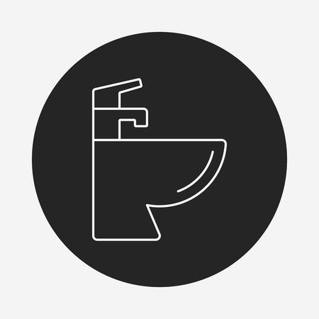 washstand: Sink line icon Illustration