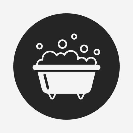 bathtub: bathtub icon
