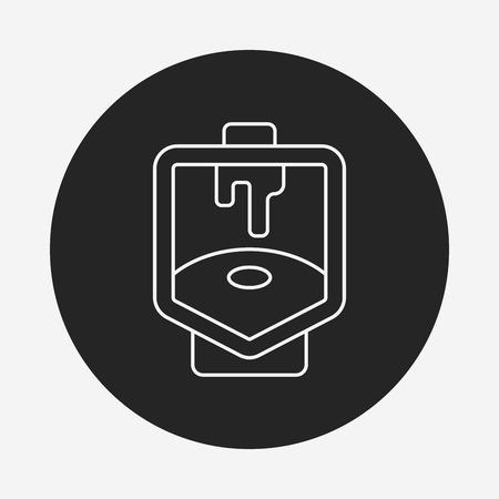 toilet seat: Toilet seat line icon