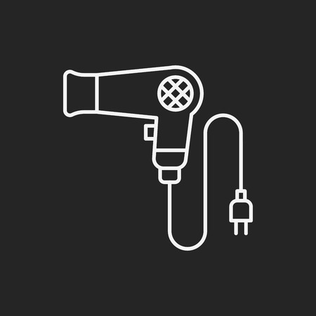 drier: Hair dryer line icon