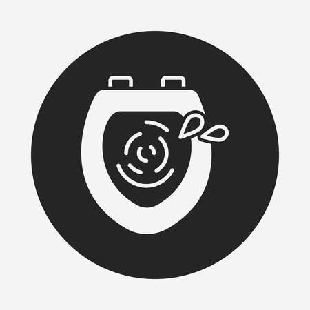 urinal: Toilet seat icon Illustration