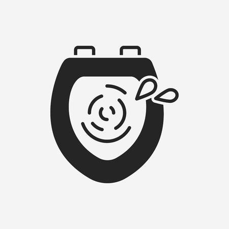toilet seat: Toilet seat icon Illustration