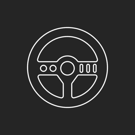 black line: game controller line icon