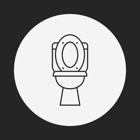WC-Sitz line icon Standard-Bild - 42759238
