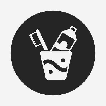 toiletries: tooth brush icon Illustration