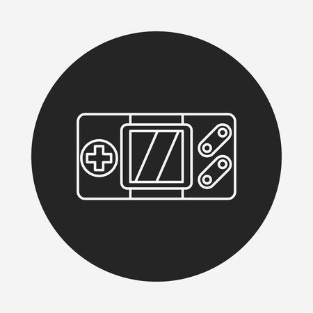 handheld device: Handheld game consoles line icon