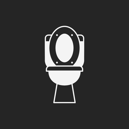 urinal: Toilet seat icon Illustration