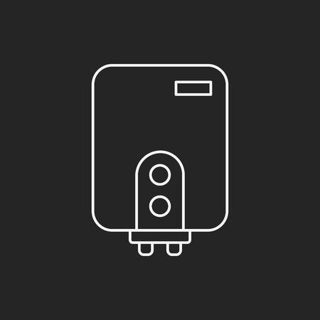 temp: Water Heater line icon Illustration