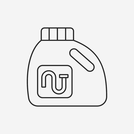 laundry line: Icono de l�nea de detergente de lavander�a