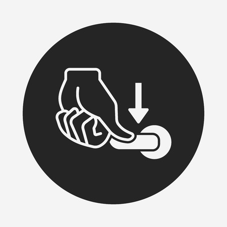 flush: flush handle icon
