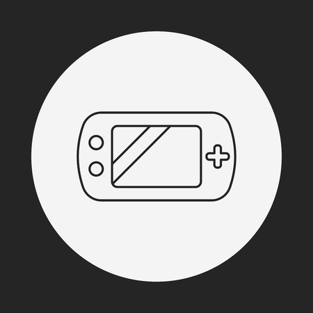 handheld device: Handheld game consoles line icon