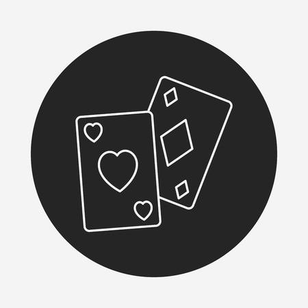 ace of diamonds: play card line icon