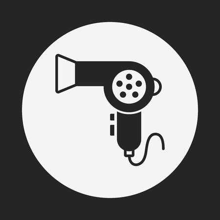drier: Hair dryer icon Illustration