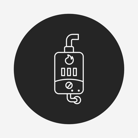 heater: Water Heater line icon Illustration