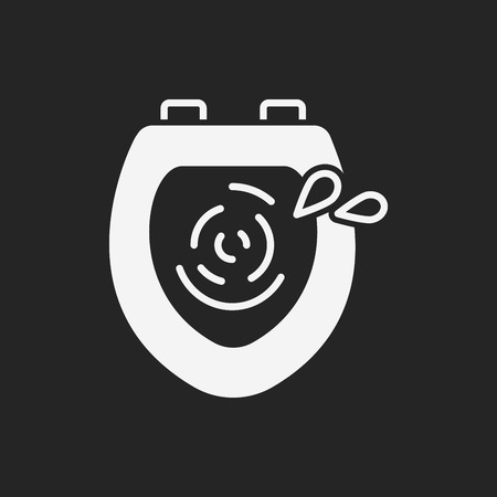 flush toilet: Toilet seat icon Illustration
