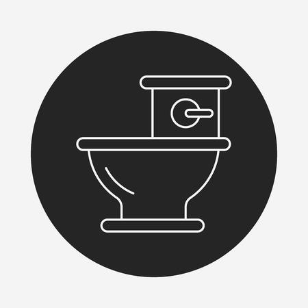 urinal: Toilet seat line icon