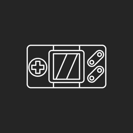 portable console: Handheld game consoles line icon